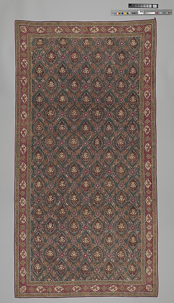 Floor Covering or Hanging (Pha Kiao), Cotton (painted resist and mordant, dyed), India (Coromandel Coast), for the Thai market