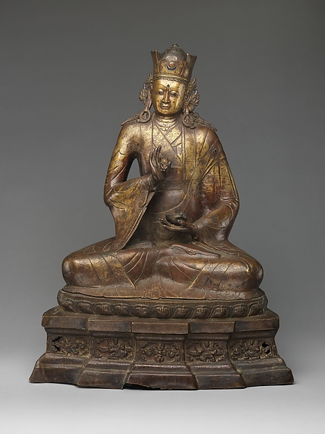 The Spiritual Master Padmasambhava, Copper alloy, with copper and silver inlay, Western Tibet or Ladakh