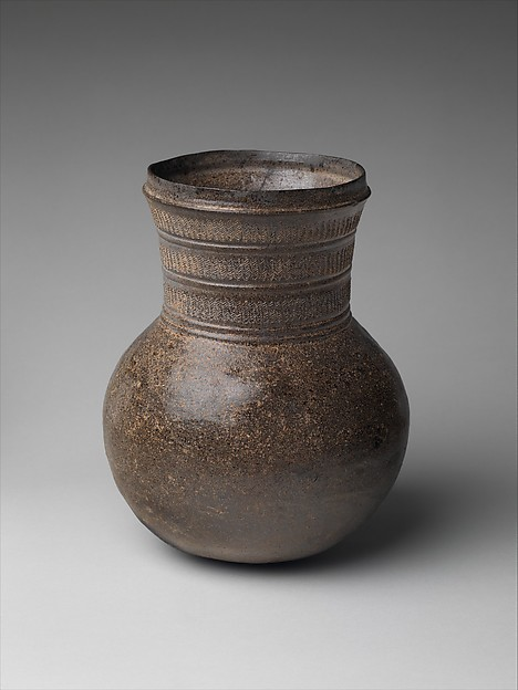 Jar, Stoneware with accidental ash glaze, Korea