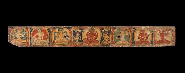 Manuscript Cover with Avalokiteshvara (The Bodhisattva of Infinite Compassion), Distemper on wood, Nepal (Kathmandu Valley)