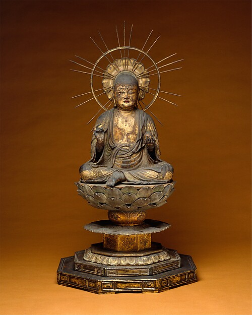 Jizō Bosatsu (Ksitigarbha), Wood with lacquer, color, and gold leaf, Japan