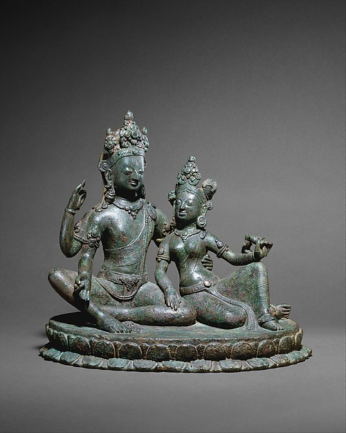 Shiva Seated with Parvati, Copper alloy, Nepal (Kathmandu Valley)