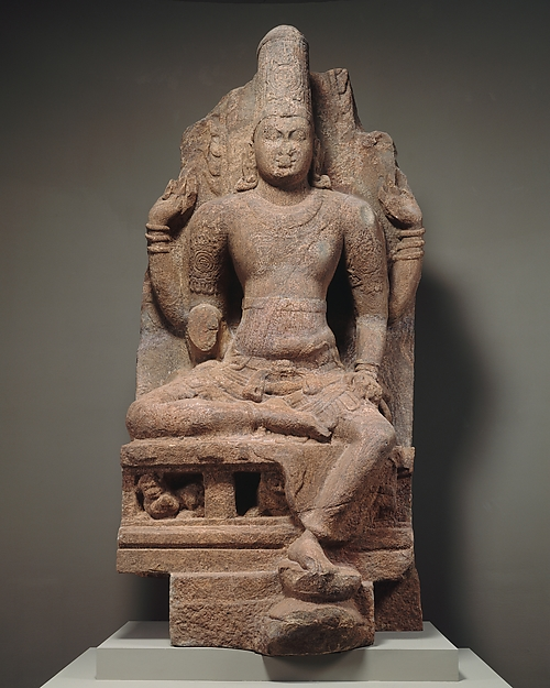 Enthroned Vishnu, Granulite, India