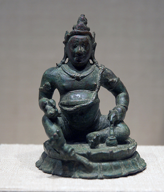 Jambhala, God of Riches, Copper alloy, Sri Lanka, Anuradhapura