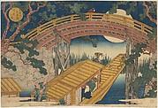 MET-DP114886・・岳亭「天保山末広橋月夜の図」