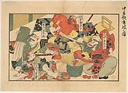 MET-DP135526「中古歌舞妓之図」 「山中平九郎」「松本幸四郎」「市川団十郎」「藤むら半太夫」・・『』