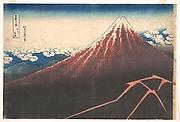 MET-DP140976・・北斎「富嶽三十六景」「山下白雨」