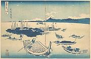 MET-DP140989天保02・・北斎「富嶽三十六景」「武陽佃島」