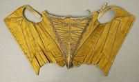 Corset, silk, metallic thread, French