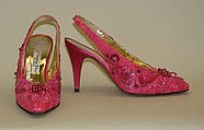 Evening pumps, House of Dior (French, founded 1947), silk, plastic, cotton, French