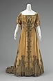 Evening dress, Attributed to House of Worth (French, 1858–1956), silk, metal, French