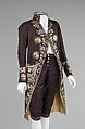 Court suit, silk, probably French