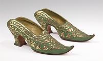Mules, Pierre Yantorny (Italian, 1874–1936), silk, metal, French