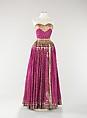 Evening dress, Mainbocher (American, 1890–1976), Silk, metal, American