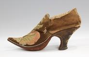 Shoes, leather, silk, European