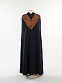Evening cape, Elsa Schiaparelli (Italian, 1890–1973), wool, metal, silk, French