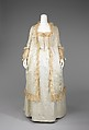 Tea gown, silk, cotton, probably American