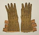 Gloves, leather, British