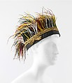 Flonflon, Paul Poiret (French, Paris 1879–1944 Paris), silk, metallic thread, feathers, French