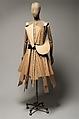 Dress, Yohji Yamamoto (Japanese, born Yokohama, 1943), wood, wool, cotton, metal, Japanese