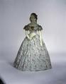 Evening dress, silk, French