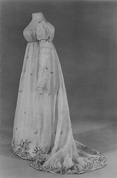 Dress, cotton, silk, French