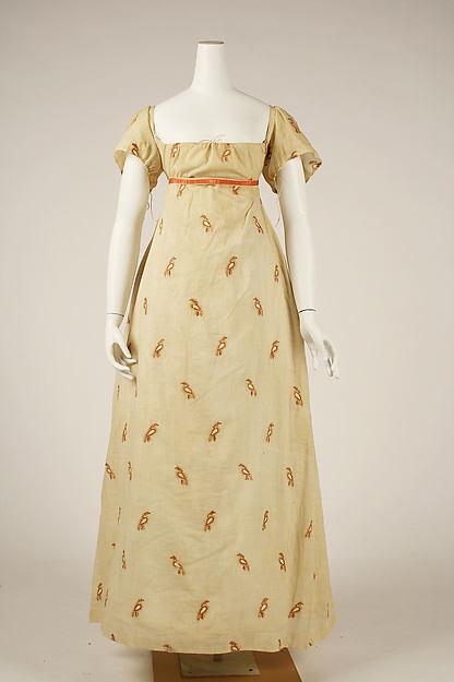 Dress, cotton, wool, American