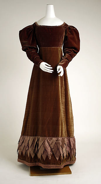Dress, silk, British