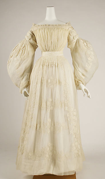 Wedding dress, cotton, French