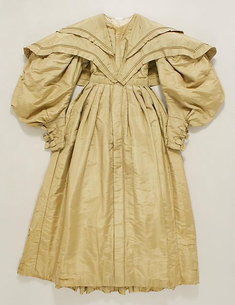 Walking dress, silk, American