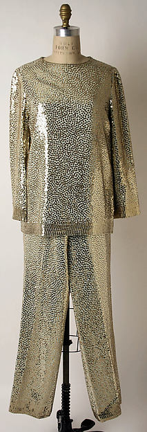 Evening pantsuit, Norman Norell (American, Noblesville, Indiana 1900–1972 New York), silk, American
