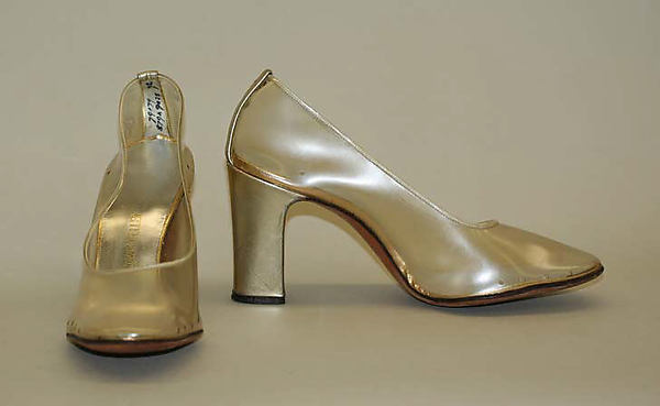 Evening shoes, Herbert Levine Inc. (American, founded 1949), synthetics, leather, American