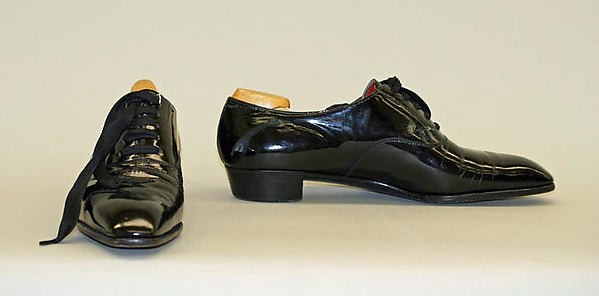 Evening oxfords, leather, wood, synthetic, British
