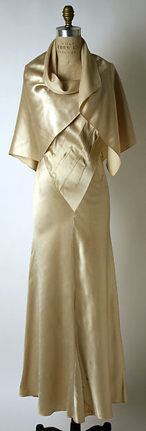 Evening dress, Elsa Schiaparelli (Italian, 1890–1973), silk, French