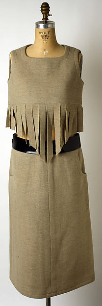 Ensemble, Pierre Cardin (French, born San Biagio di Callalta, Italy, 1922), wool, plastic, leather, French