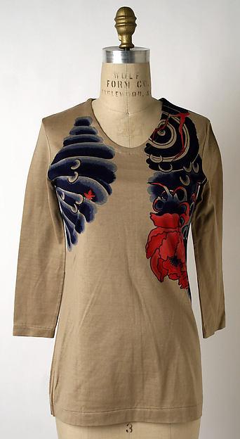 T-shirt, Issey Miyake (Japanese, born 1938), cotton, Japanese