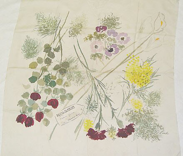 Scarf, House of Dior (French, founded 1947), silk, French