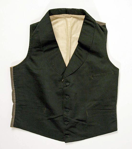 Waistcoat, silk, cotton, American or European