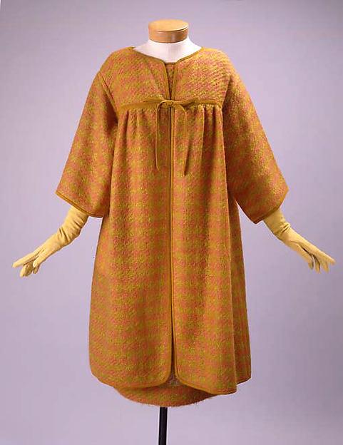 Ensemble, Bonnie Cashin (American, Oakland, California 1908–2000 New York), (a,b) wool, leather; (c) wool, American
