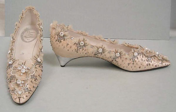 Wedding Shoes House Of Dior French Founded 1947 Silk Leather