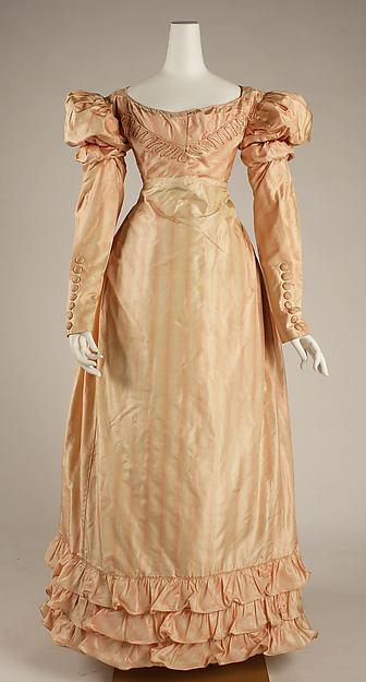 Visiting dress, silk, British