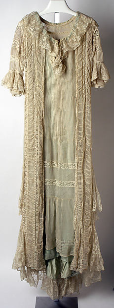 Tea gown, Callot Soeurs (French, active 1895–1937), silk, cotton, French