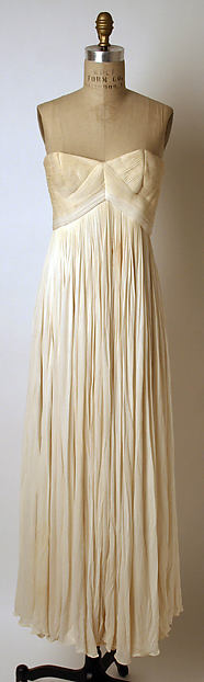 Evening dress, Madame Grès (Alix Barton) (French, Paris 1903–1993 Var region), silk, French