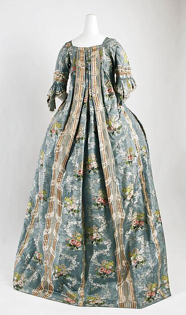 Robe à la Française, silk, Italian