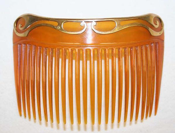 Comb, Asprey (British, founded 1781), synthetics, metal, British
