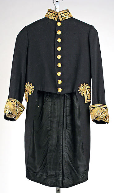 Court coat, Anderson & Sheppard (British, founded 1906), wool, silk, metal, British