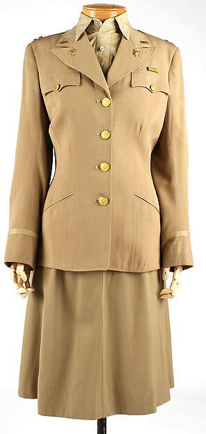 Uniform, (a–c,e–g) wool(d) cotton, American
