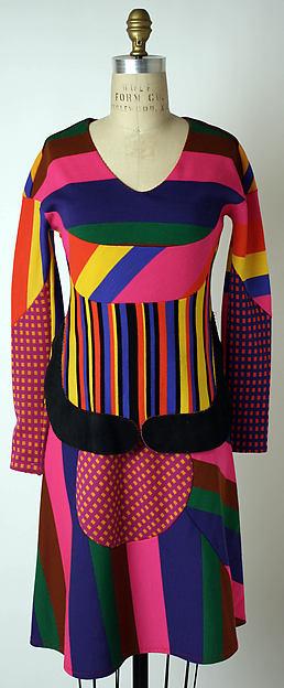 Dress, Stephen Burrows (American, born 1943), wool, suede, American