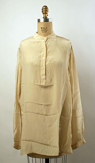 Shirt, Halston (American, Des Moines, Iowa 1932–1990 San Francisco, California), silk, American