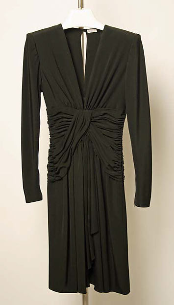 Cocktail dress, Yves Saint Laurent, Paris (French, founded 1961), silk, French
